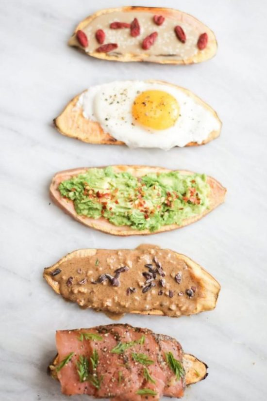 Eat Vegetables with Every Meal: Sweet Potato Toast 5 Ways from Nutrition Stripped   The Health Sessions