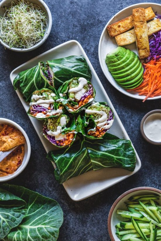Eat More Leafy Greens: Collard Green Wraps from Honestly YUM   The Health Sessions