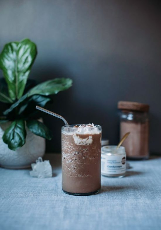 Medicinal Mushroom Recipes: Magic Mushroom Mocha Frap from The First Mess | The Health Sessions