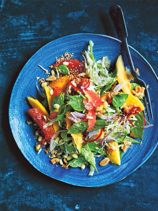 Health-Boosting Herb Recipes: Mango and Herb Salad with Sesame Ginger Dressing from Donna Hay | The Health Sessions
