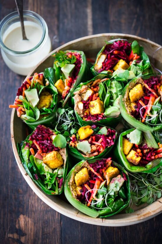No-Cook Recipes: Healthy Vegan Collard Greens Wraps from Feasting at Home | The Health Sessions