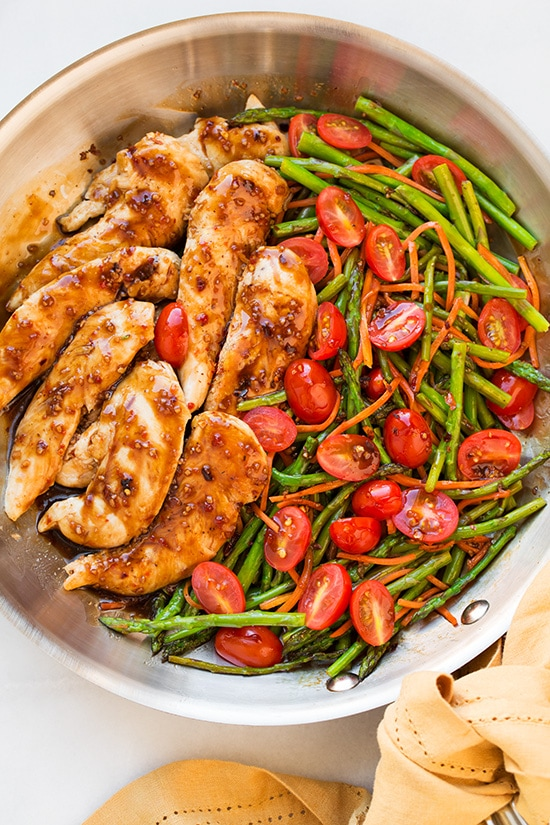 One Pot Dinners: One Pan Balsamic Chicken and Veggies from Cooking Classy | The Health Sessions