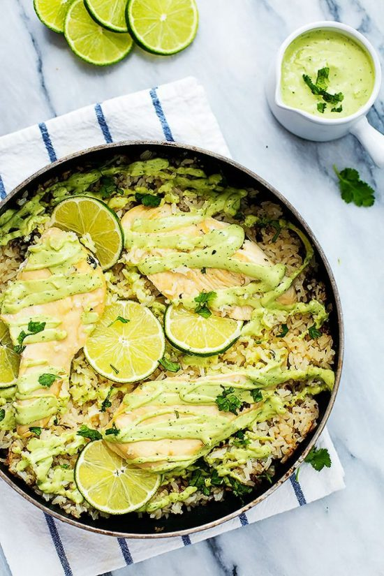 One Pot Dinners: One Pot Cilantro Lime Chicken from Creme De la Crumb | The Health Sessions