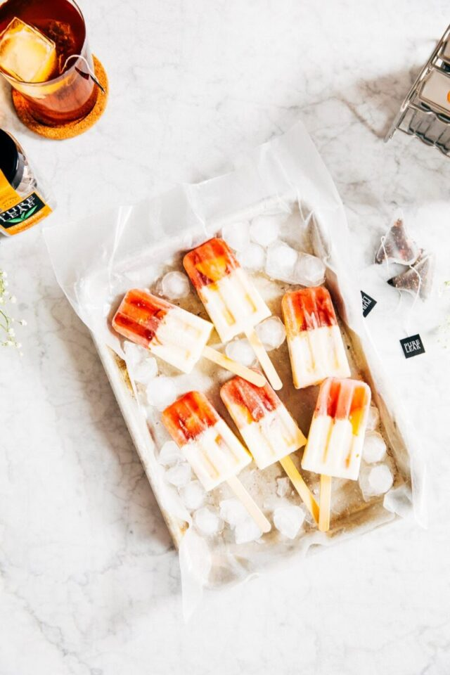 Healthy Popsicles: Black tea and Peach Creamsicles from Hummingbird High | The Health Sessions
