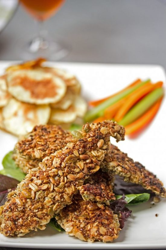 Popular Superfoods: Oven Baked Chicken Tenders with a Healthy Seed Crust from Cooks with Cocktails | The Health Sessions