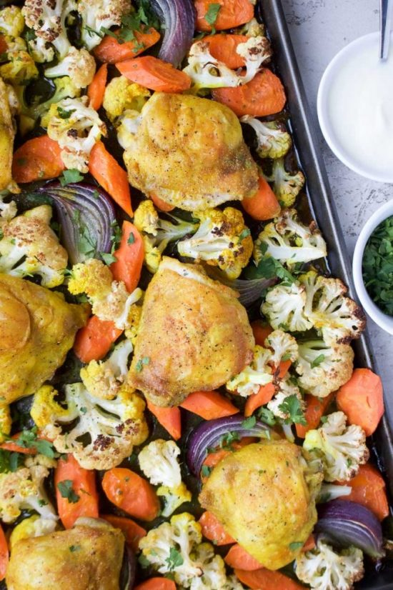 Popular Superfoods: Turmeric Chicken Tray Bake from Kay Nutrition | The Health Sessions