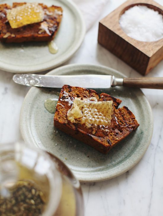 Your Favourite Fall Produce: Grilled Pumpkin Bread with Honeycomb from My New Roots | The Health Sessions