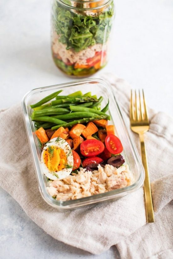 Salads To-Go: Meal Prep Nicoise Salad from Eating Bird Food | The Health Sessions