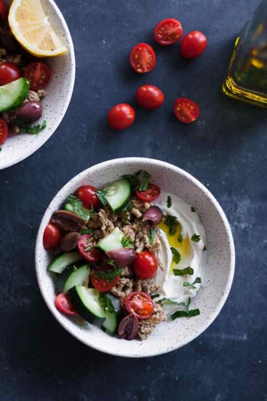 Savory Yogurt: Mediterranean Turkey Bowls with Savory Yogurt from Hungry By Nature | The Health Sessions