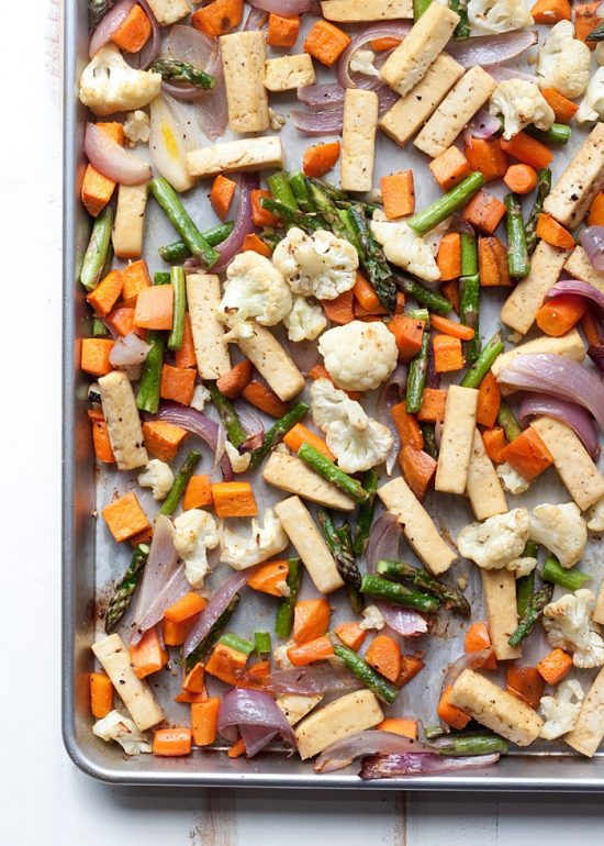 One Tray Meals: Sheet Pan Tofu and Veggie Dinner from Kitchen Treaty | The Health Sessions
