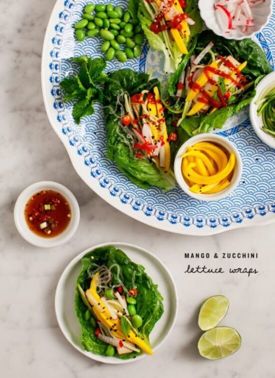 Healthy Stone Fruit Recipes: Mango & Zucchini Lettuce Wraps from Love and Lemons | The Health Sessions