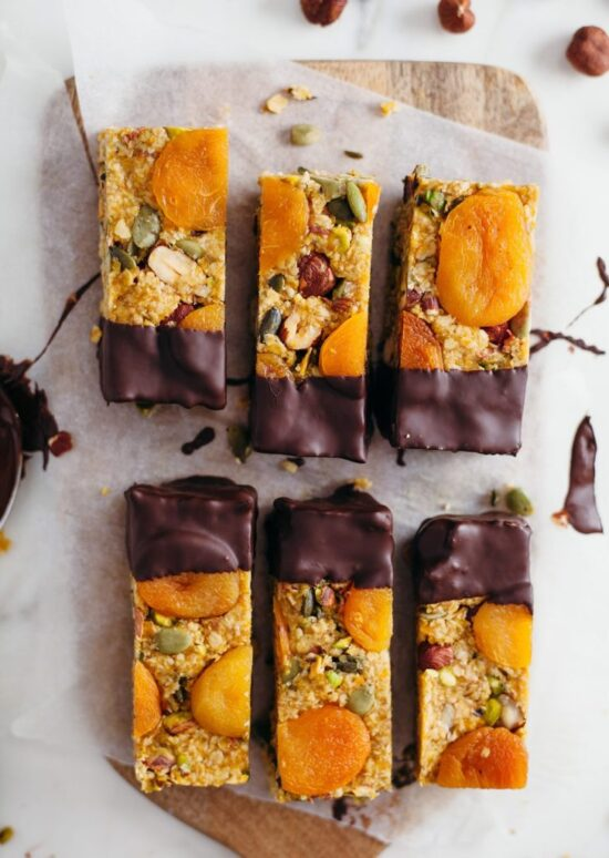 Healthy Stone Fruit Recipes: Raw Apricot and Ginger Energy Bars by Plant Based News | The Health Sessions
