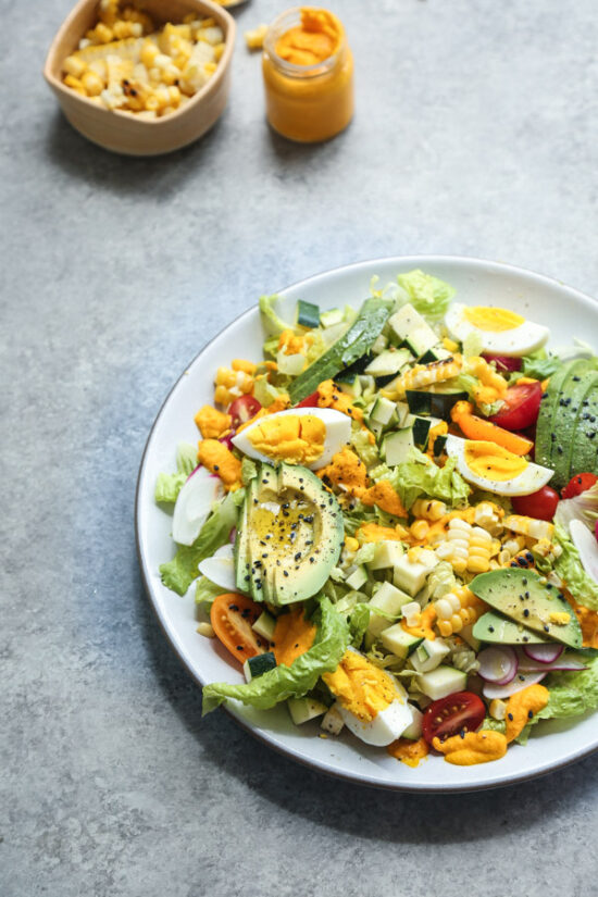 Summer Salads: Cobb Salad Recipe with Creamy Carrot-Kimchi Dressing from Feed Me Phoebe | The Health Sessions