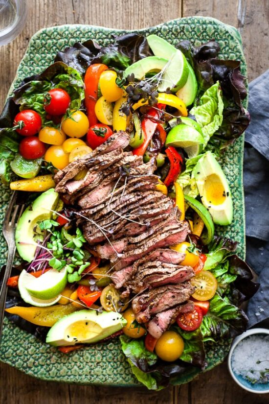 Summer Salads: Fajita Salad with Steak from 40 Aprons | The Health Sessions