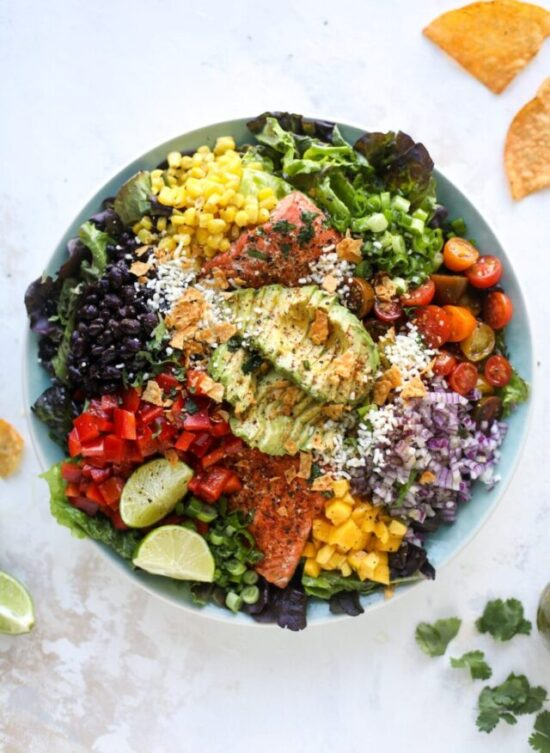 Summer Salads: Southwest Salmon Salad from How Sweet Eats | The Health Sessions