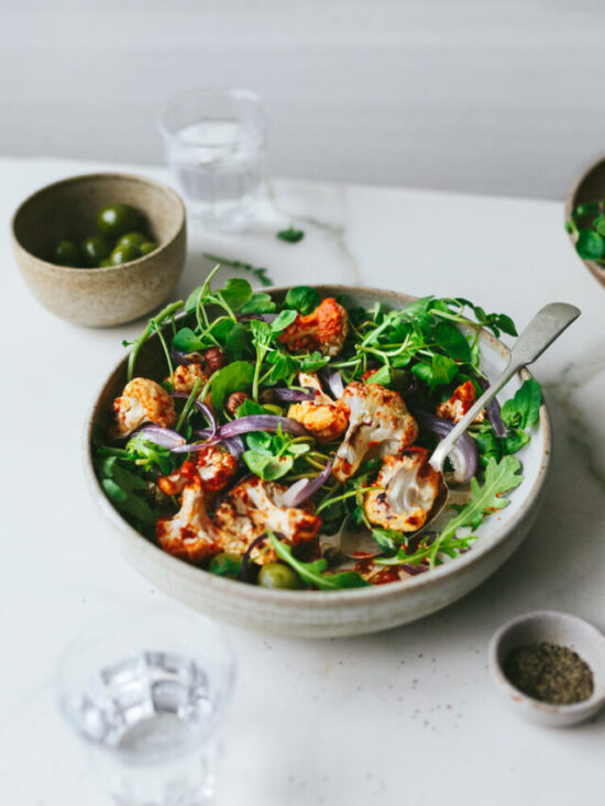 Summer Salads: Vegan Roasted Cauliflower Salad from The Little Plantation   The Health Sessions