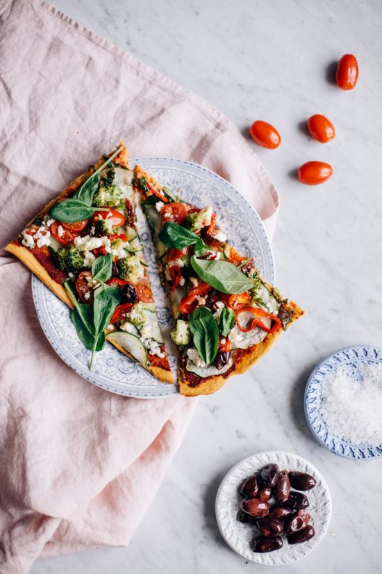 Healthy Pizza Party: Super Veggie Pizza with Sweet Potato Crust from Tuulia | The Health Sessions