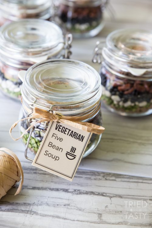Edible Gifts for Healthy Food Lovers: Vegetarian Five Bean Soup Mix from Tried and Tasty | The Health Sessions