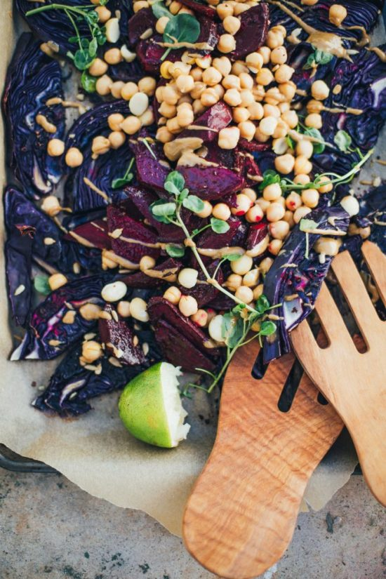 Warm Winter Salads: Warm Roasted Red Cabbage and Beet Salad from Will Frolic For Food | The Health Sessions