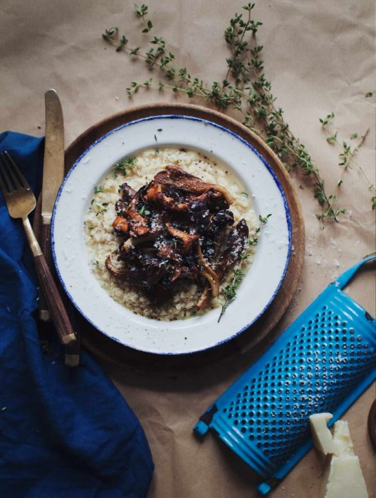 Medicinal Mushroom Recipes: White Lentil Risotto with Mushrooms from My New Roots | The Health Sessions