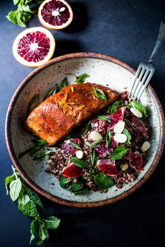 Winter Citrus Recipes: Simple Moroccan Salmon by Feasting At Home | The Health Sessions