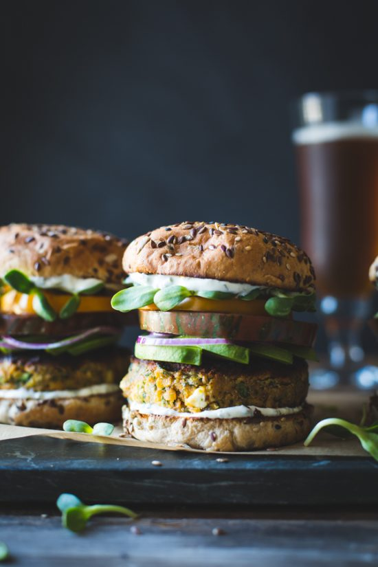 Healthy Burgers & Fries: Spiced Zucchini, Feta and Chickpea Veggie Burger from The Bojon Gourmet | The Health Sessions